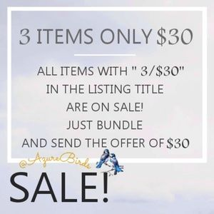SALE 3 items for $30 New items Added Often